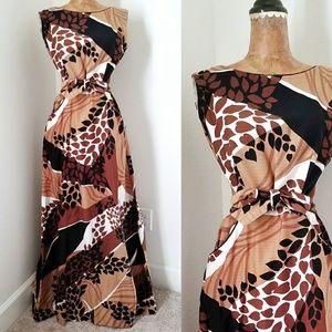 Amazing Vintage 60s Tropical Maxi Wrap Dress